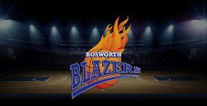 Bosworth Blazers Logo on Basketball Court